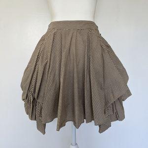 NEW Allsaints Jezabel Nightingale Stripe skirt sz8